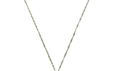 Handcrafted Pendant Necklace Gold Silver Diamond Pearl