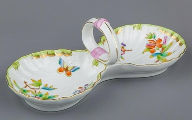 Herend Queen Victoria Double Shell Shaped Dish