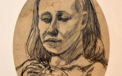 JOHN PERCEVAL (1923-2000) Portrait (possibly Mary Boyd) pencil on paper