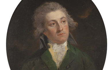 John Hoppner, R.A. (London 1758-1810), Portrait of Lt. Col. Thomas Richmond-Gale-Braddyll (1776-1862), bust-length, in a green jacket
