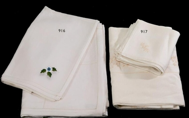 Linen tablecloth 175x260 and 12 napkins