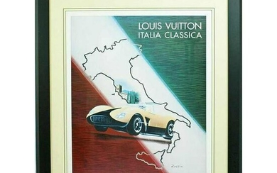Louis Vuitton 1995 Italia Italy Classic Poster by