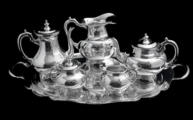 MEXICAN 6pc ANTIQUE 930 STERLING SILVER TEA / COFFEE