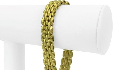 Marchisio 18k Yellow Gold 33.2g Textured Panther Link