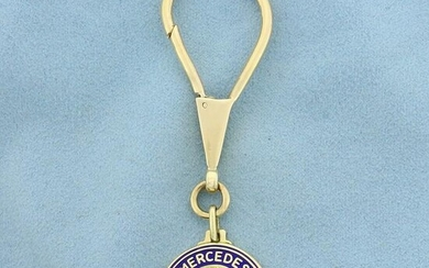 Mercedes-Benz Keychain in Solid 14K Yellow Gold