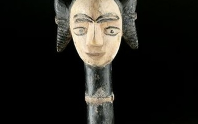 Mid-20th C. African Igbo Wooden Chalk Spoon