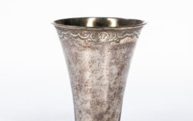 Northern European Parcel-gilt Silver Beaker