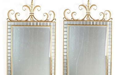 Pair of Contemporary Adam Style Mirrors