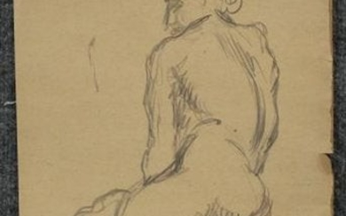 RAPHAEL SOYER 1899-1987, Double Sided Nude Drawing