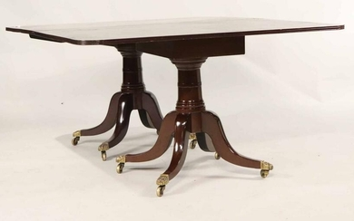 Regency Mahogany Two Pedestal Dining Table