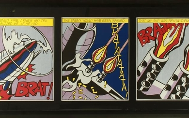 """Roy Lichtenstein """"As I Opened Fire"""" Offset Litho"""