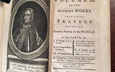 Scarce 3rd ed. Gulliver's Travels, 1738
