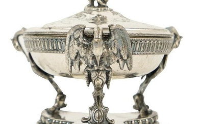 Silver Plated Figural Lidded Center Dish