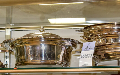 Silverplate Covered Dish and Stands