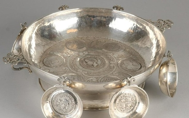 Special silver serving dish with six trays, only