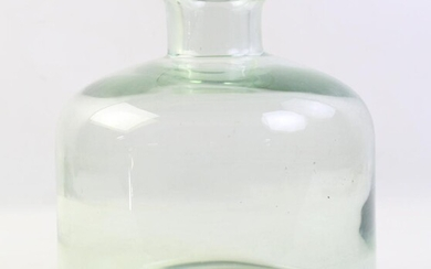 Studio Majgrøn' Style Vase Glass Vase, Probably Scandinavian , H:23cm
