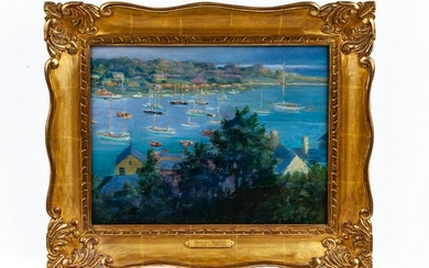 """IN THE STYLE OF THEODORE ROBINSON: """"EAST COAST HARBOR"""""""