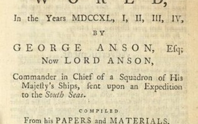 [TRAVELS] Anson, A voyage round the world