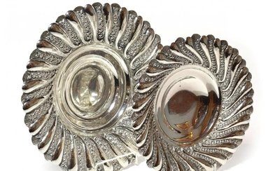 Two graduated Egyptian silver bowls, first half 20th century, each...