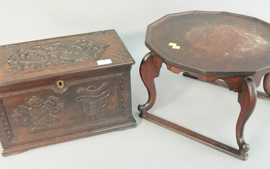 Two piece lot to include Chinese stand with octagonal