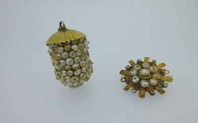 Two unusual handmade pieces of jewellery set with