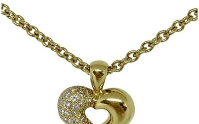 Van Cleef & Arpels 18K Yellow Gold Diamond Heart