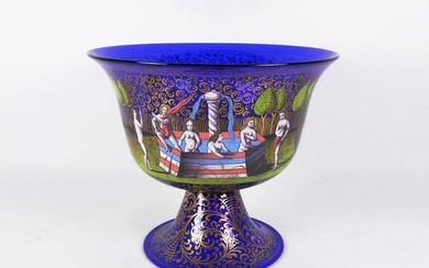 Venetian Enamelled Presentation Bowl