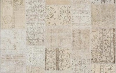 Vintage Patchwork Collection Hand-Knotted Lamb's Wool