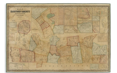 WALLING, HENRY FRANCIS. Map of Hampden County Massachusetts.