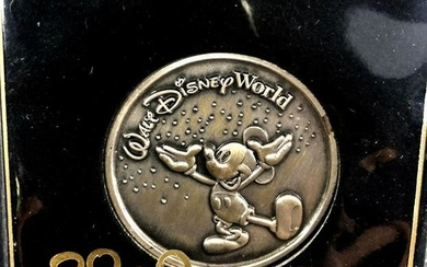Walt Disney World Mickey Mouse Pewter Coin Medallion