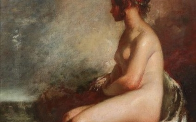 William Etty RA (1787-1849) Study of a seated...