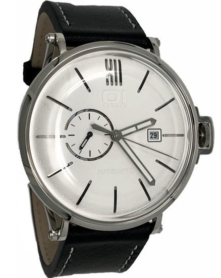 01 The One - Automatic 46mm Stainless Steel Black Leather Strap - A104L2 - Men - 2019