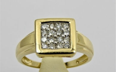 14 kt. Yellow gold - Ring - 0.25 ct Diamond