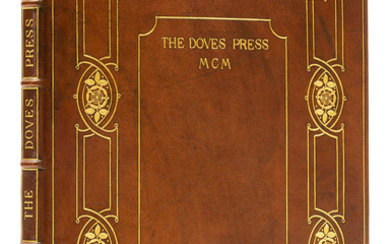 Doves Press.- , Catalogue Raisonné of Books printed and published at the Doves Press 1900-1916, one of 150 copies on paper, Doves Press, 1916.