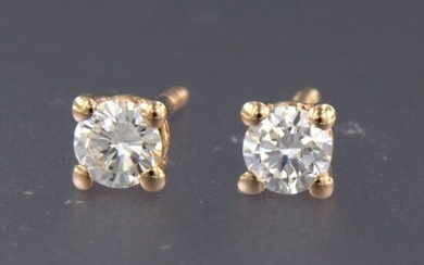 18 kt. Pink gold - Earrings - 0.16 ct Diamond