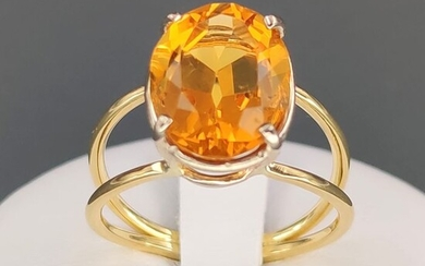18 kt. Yellow gold - Ring - 5.00 ct Citrine