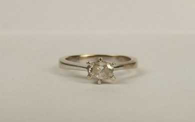 18ct White Gold 0.30CTW Diamond Solitaire Ring UK Size