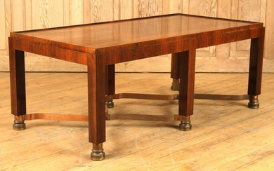MID CENTURY MODERN ROSEWOOD COFFEE TABLE BRONZE