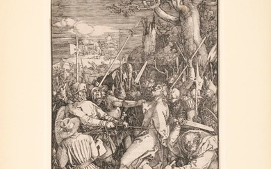 """ALBRECHT DURER, Nuremberg, Germany, 1471-1528, """"Christ Taken Captive/The Kiss of Judas"""", plate ten from the """"Large Passion"""", first p..."""