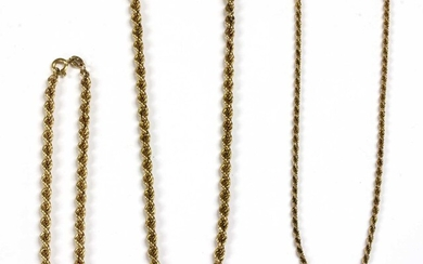 A 9ct gold rope link necklace