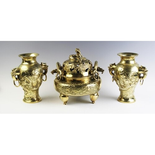 A Chinese polished bronze koro and cover, early 20th century...