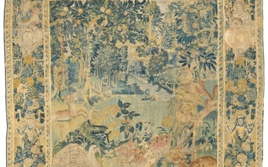 A FLEMISH VERDURE GAMEPARK TAPESTRY, LATE 16TH/EARLY 17TH CENTURY