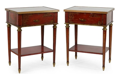 A Pair of Maitland Smith Nightstands.