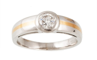 A SOLITAIRE DIAMOND RING, the diamond estimated to weigh 0.6...