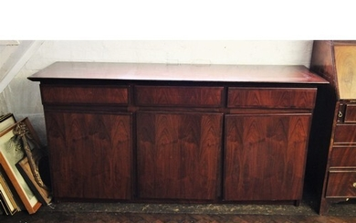 A mid 20th century Danish design rosewood sideboard by Dyrlu...