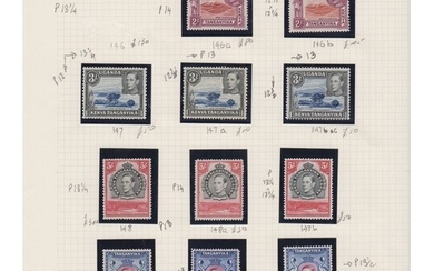 A mint collection on pages from 1904-1960s including 1904-07...