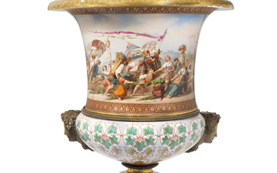 A very large Berlin porcelain vase given to Sir Andrew Buchanan by the King of Prussia, circa 1859
