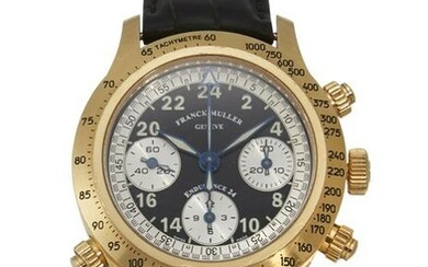 AN 18 CARAT YELLOW GOLD LIMITED EDITION CHRONOGRAPH