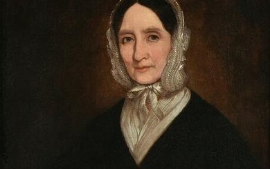"""AN AMERICAN SCHOOL PAINTING, """"Portrait of a Lady"""