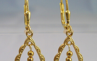 AQUAMARINE EARRINGS SILVER GOLD PLATED.